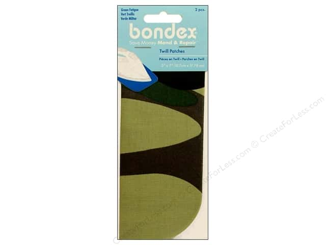 Bondex Iron On Patch 5 x 7 in. Green Fatigue 2 pc.