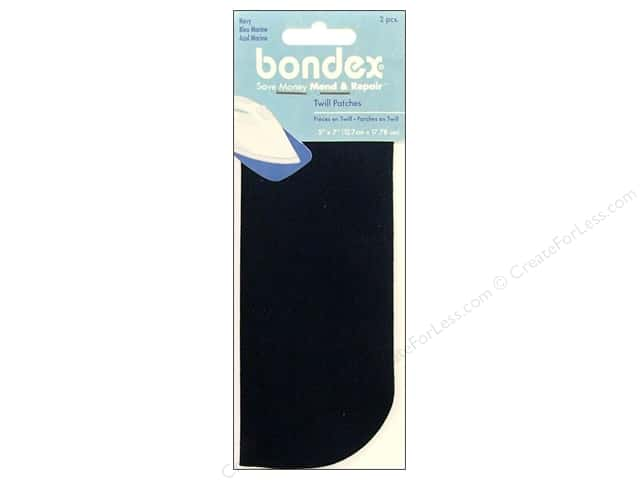 Bondex Iron On Patch 5 x 7 in. Navy 2 pc.