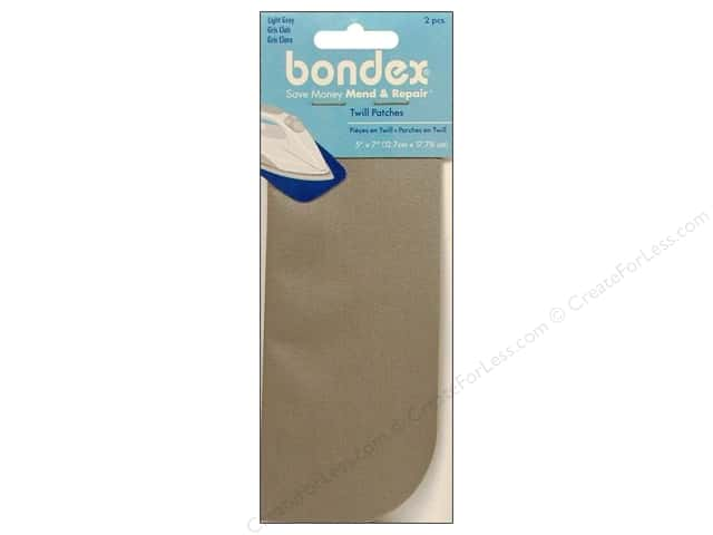 Bondex Iron On Patch 5 x 7 in. Light Grey 2 pc.