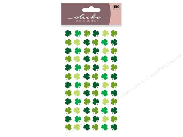 EK Sticko Stickers Four Leaf Clover Repeats