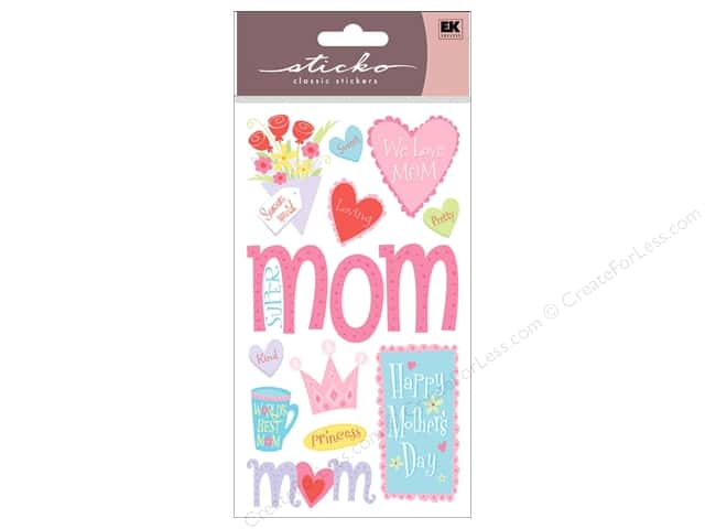 EK Sticko Stickers Happy Mother's Day