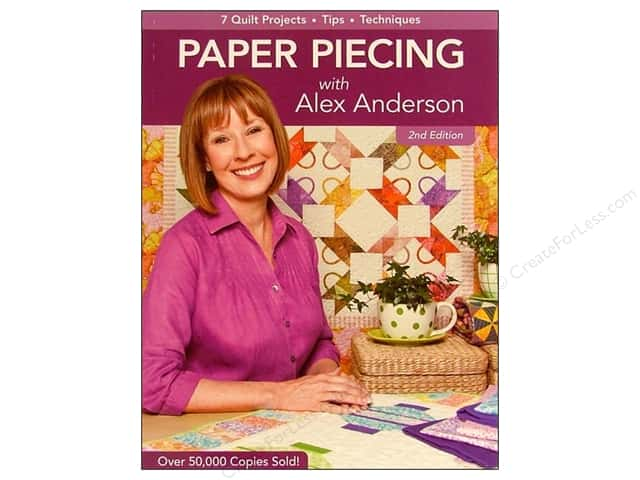 C&T Publishing Paper Piecing With Alex Anderson Book - 2nd Edition by Alex Anderson