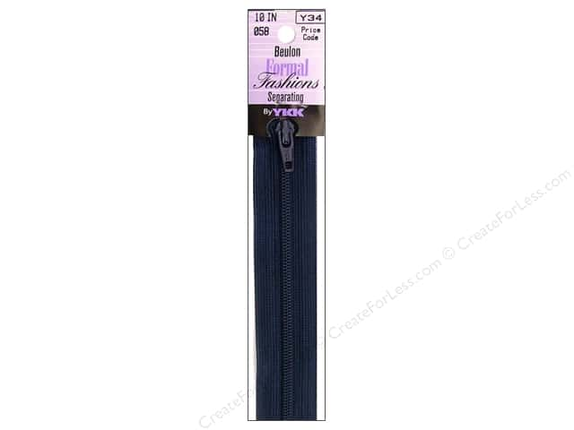 YKK Beulon Formal Fashions Separating Zipper 10 in. Limosine