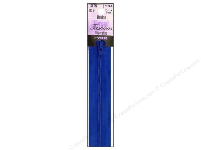 YKK Beulon Formal Fashions Separating Zipper 10 in. Victoria Blue