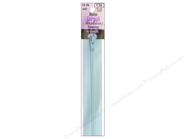"YKK Beulon Lightweight Separating Formal Fashions 14"" Zipper Candy Blue"