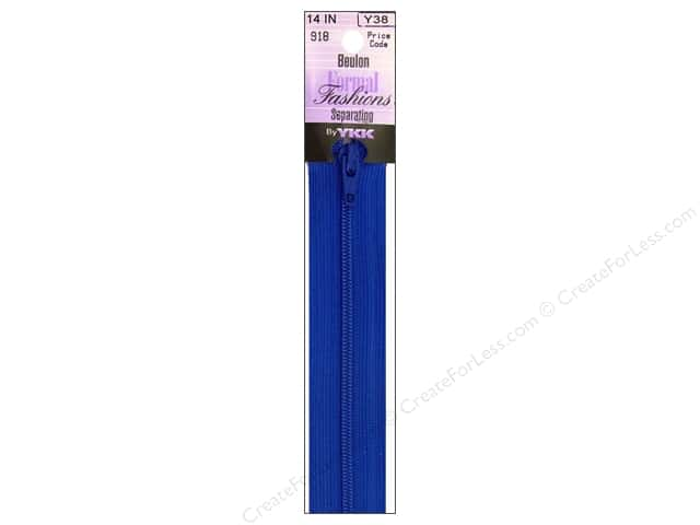 "YKK Beulon Lightweight Separating Formal Fashions 14"" Zipper Victoria Blue"