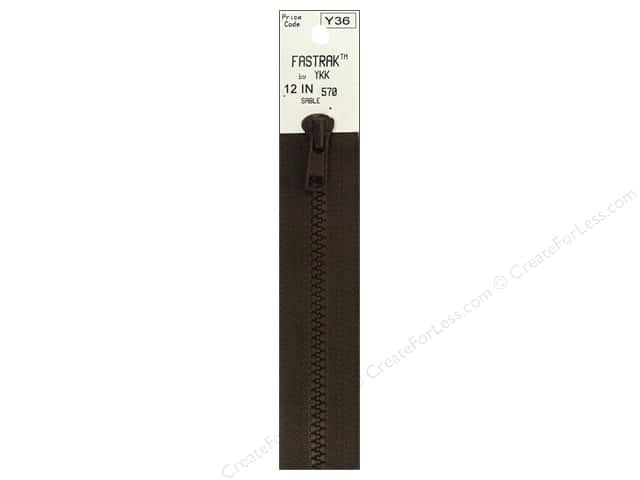 YKK Fastrak 1-Way Separating Zipper 12 in. Sable Brown