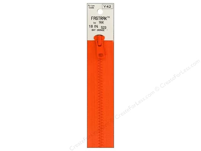 YKK Fastrak 1-Way Separating Zipper 18 in. Burnt Orange