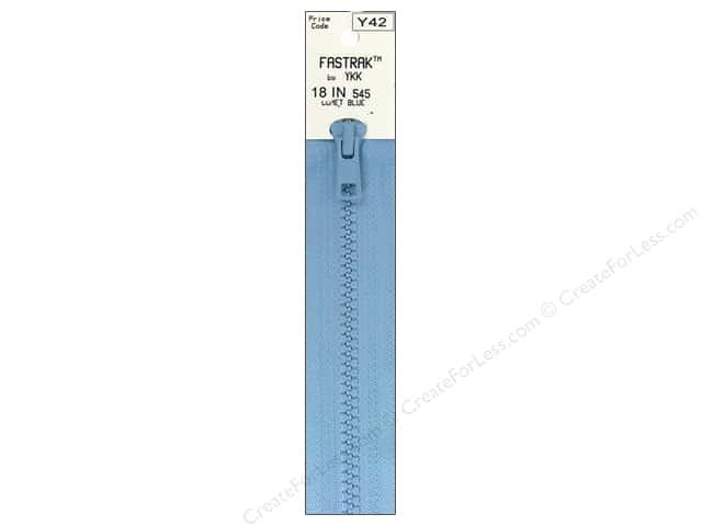 YKK Fastrak 1-Way Separating Zipper 18 in. Comet Blue