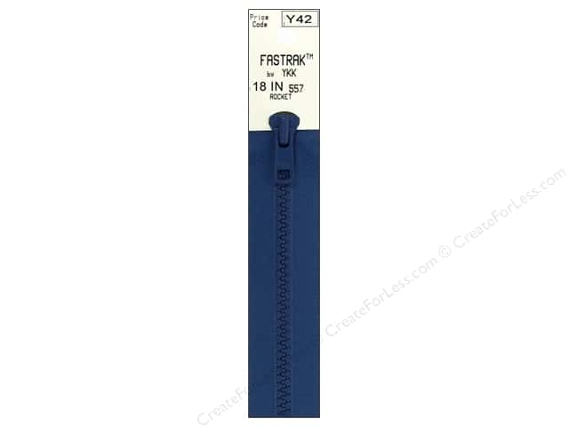 YKK Fastrak 1-Way Separating Zipper 18 in. Rocket Blue