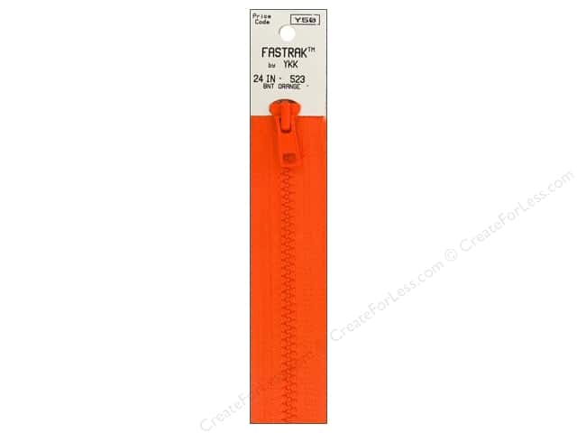 YKK Fastrak 1-Way Separating Zipper 24 in. Burnt Orange
