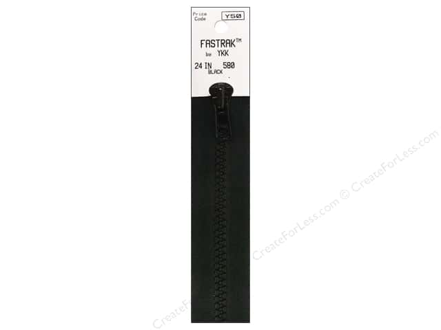 YKK Fastrak 1-Way Separating Zipper 24 in. Black