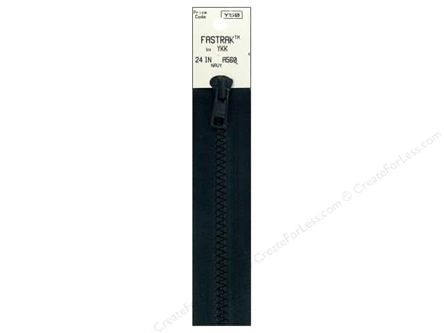 YKK Fastrak 1-Way Separating Zipper 24 in. Navy