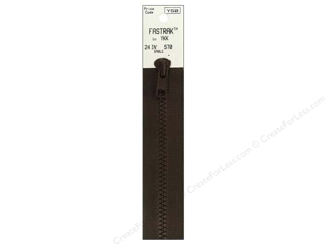 YKK Fastrak 1-Way Separating Zipper 24 in. Sable Brown