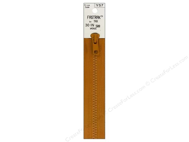 YKK Fastrak 1-Way Separating Zipper 30 in. Bronze