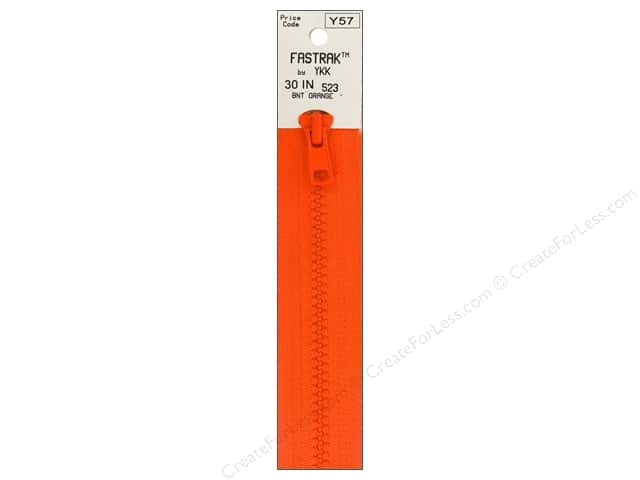 YKK Fastrak 1-Way Separating Zipper 30 in. Burnt Orange