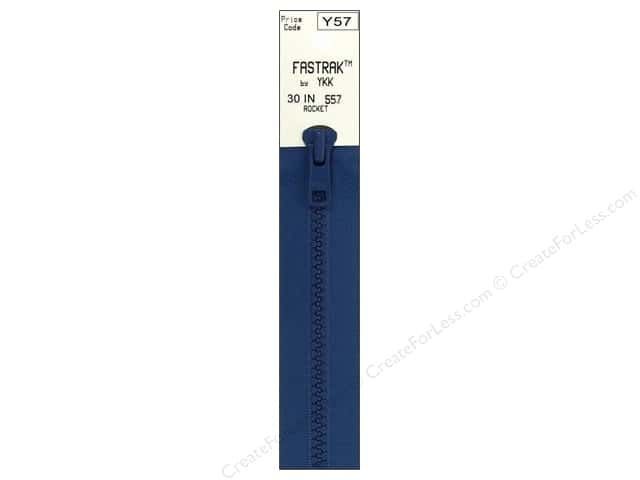 YKK Fastrak 1-Way Separating Zipper 30 in. Rocket Blue