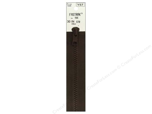 YKK Fastrak 1-Way Separating Zipper 30 in. Sable Brown