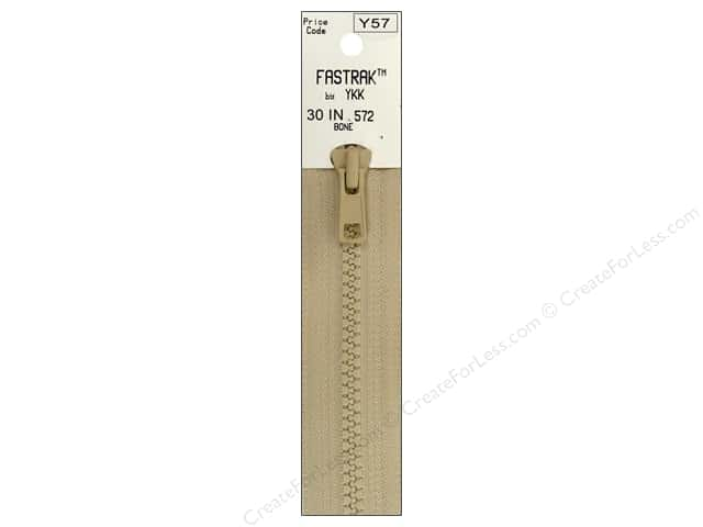 YKK Fastrak 1-Way Separating Zipper 30 in. Bone