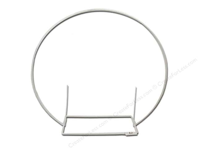 Panacea Memorial Supplies Wire Handle #31 Rectangle White