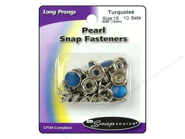 Snapsource Pearl Snap Fastener Size 18 Pearl Turquoise