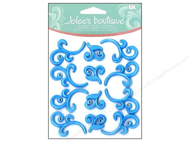 Jolee's Boutique Cabochons Baby Blue Flourishes