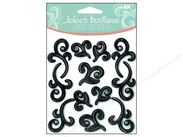 Jolee's Boutique Cabochons Black Flourishes