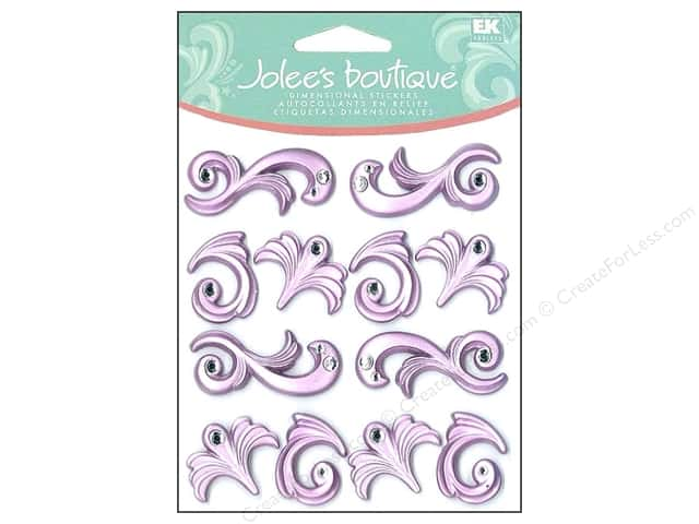 Jolee's Boutique Cabochons Purple Flourishes