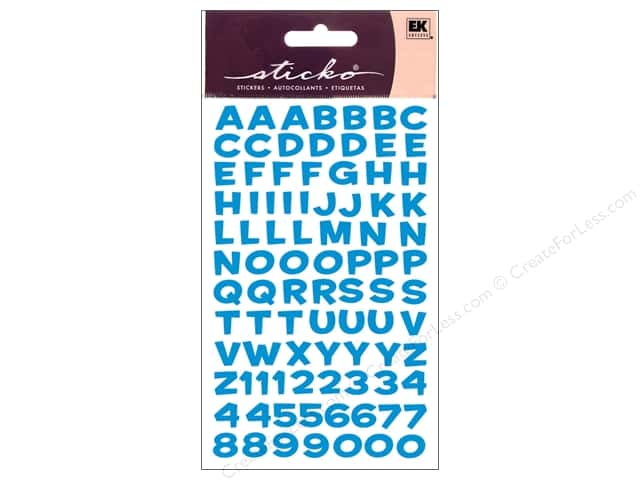Sticko Alphabet Stickers - Funhouse Metallic Blue