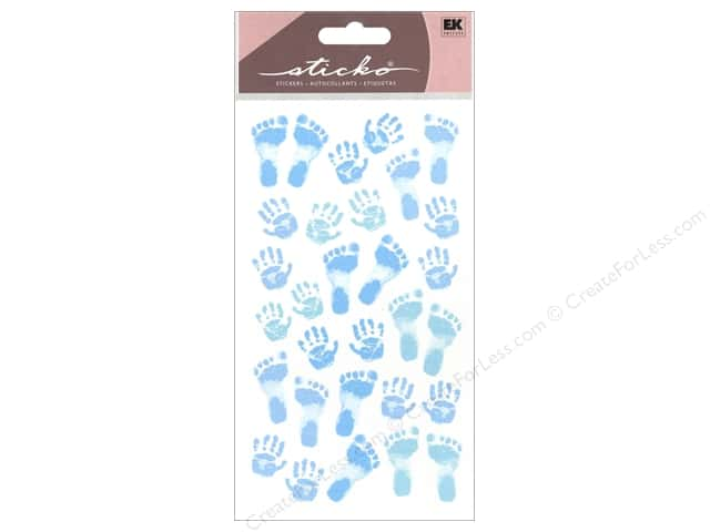 EK Sticko Stickers Pastel Baby Boy Prints