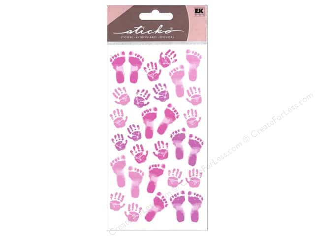EK Sticko Stickers Pastel Baby Girl Prints