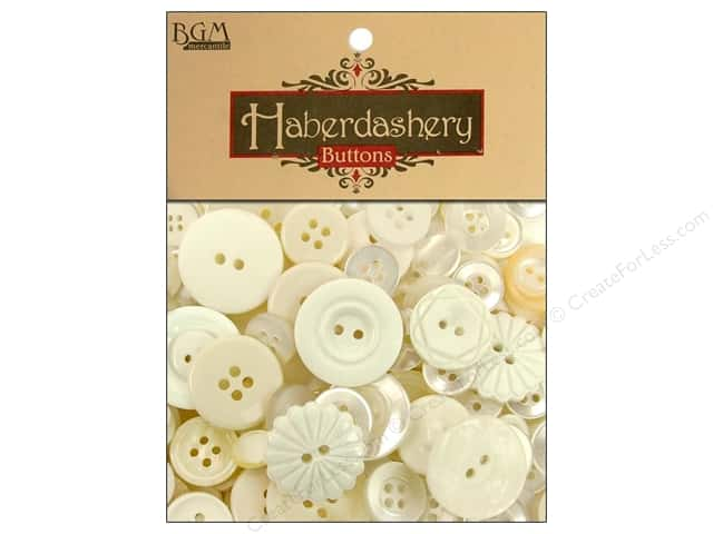 Buttons Galore Haberdashery Classic Buttons Ivory/Pearl