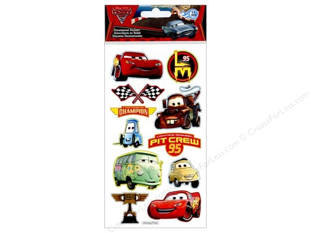 EK Disney Sticker Puffy Cars