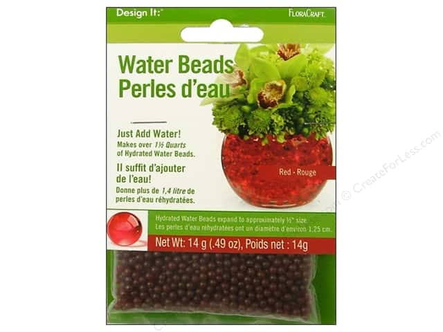 FloraCraft Water Beads Dehydrated Red