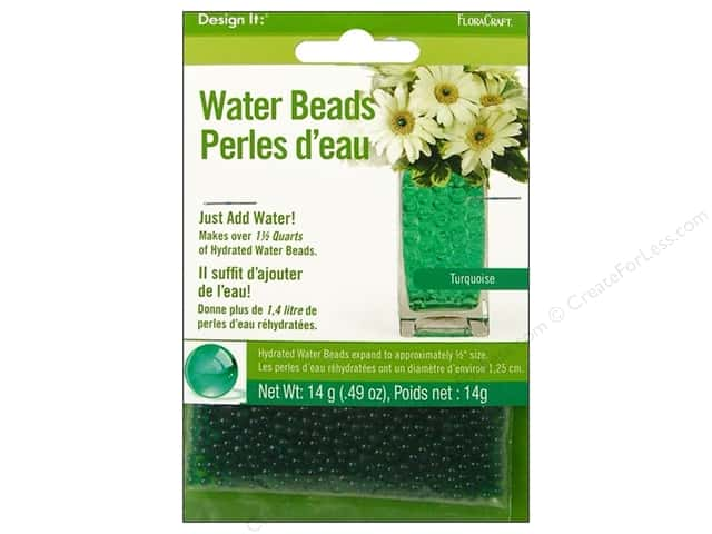 FloraCraft Water Beads Dehydrated Turquoise