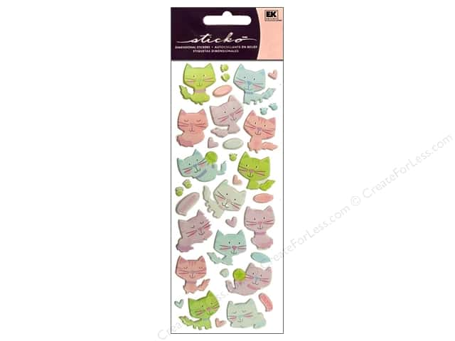EK Sticko Stickers Puffy Kitties