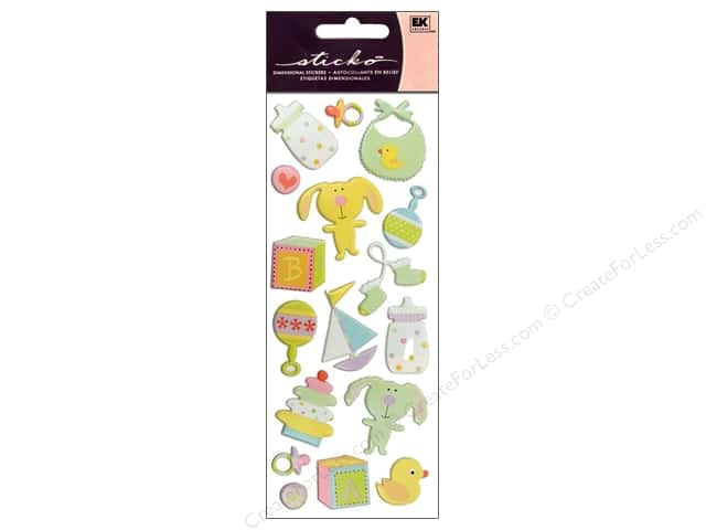 EK Sticko Stickers Puffy Baby Toys