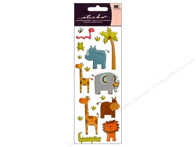 EK Sticko Stickers Puffy Zoo Friends