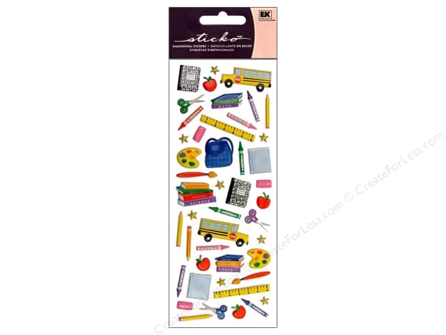 EK Sticko Stickers Puffy Time for School