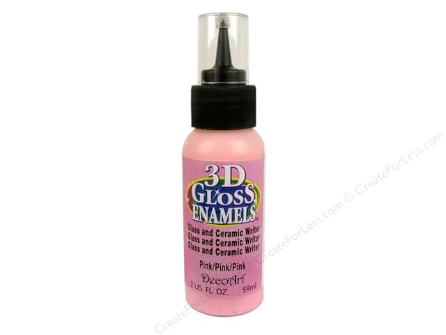 DecoArt Americana Gloss Enamel Paint 3D Writer 2 oz. #09 Pink
