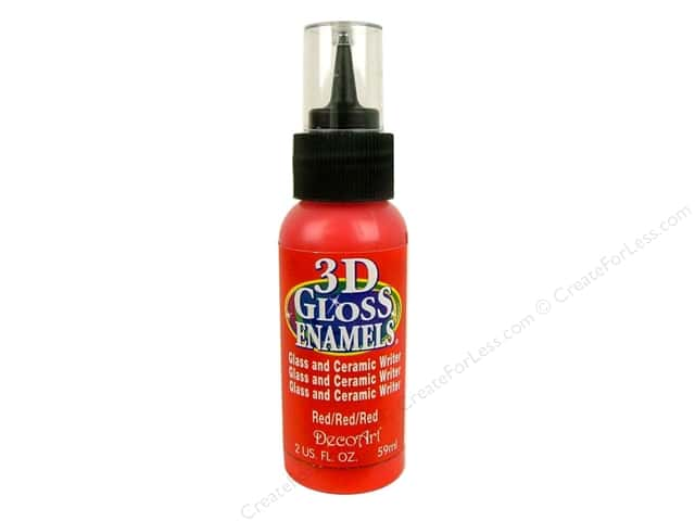 DecoArt Americana Gloss Enamel Paint 3D Writer 2 oz. #04 Red