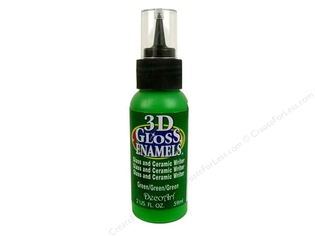 DecoArt Americana 3D Gloss Enamel Paint 2 oz. #07 3D Green