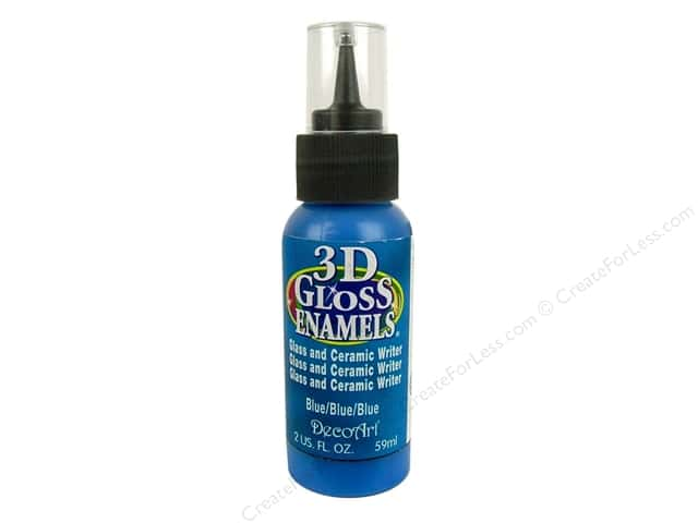 DecoArt Americana Gloss Enamel Paint 3D Writer 2 oz. #05 Blue