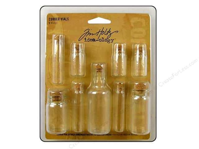 Tim Holtz Idea-ology Corked Vials Assorted 9pc