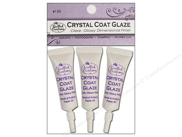 Quilled Creations Crystal Coat Glaze Clear 3pc