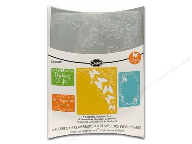Sizzix Textured Impressions Embossing Folders 4 pc. Butterfly Migration Set