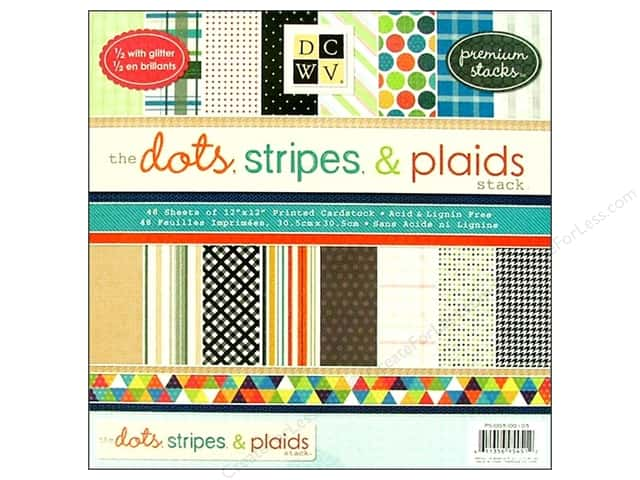 Die Cuts With A View 12 in.  x 12 in. Paper Stack Dots, Stripes & Plaids