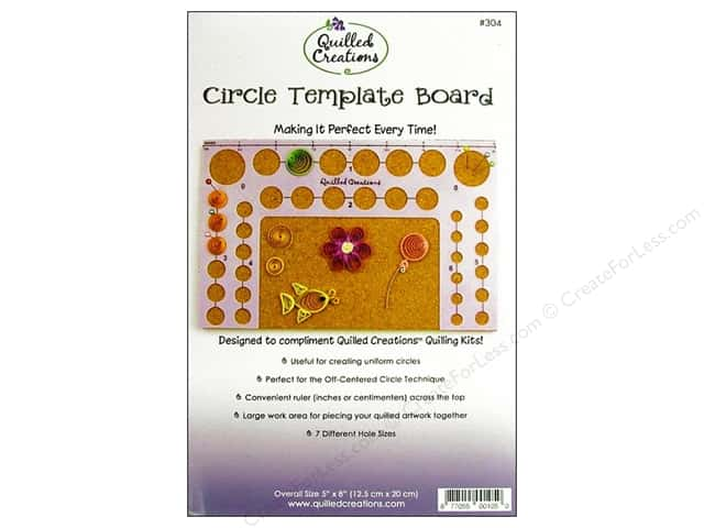 Quilled Creations Circle Template Board