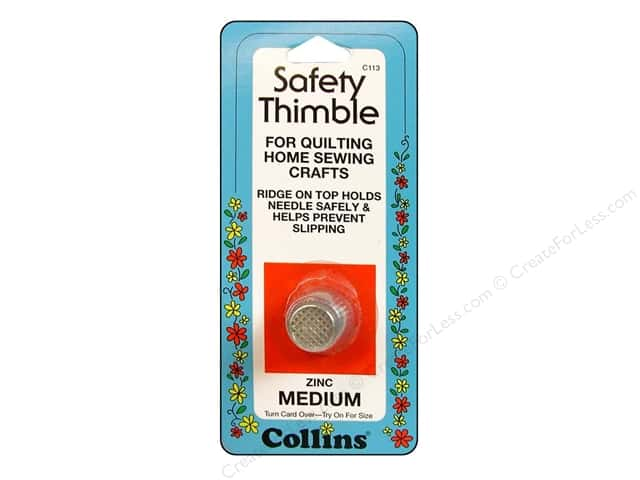Safety Thimble by Collins Medium Zinc