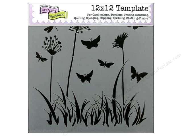 The Crafter's Workshop Template 12 x 12 in. Butterfly Meadow